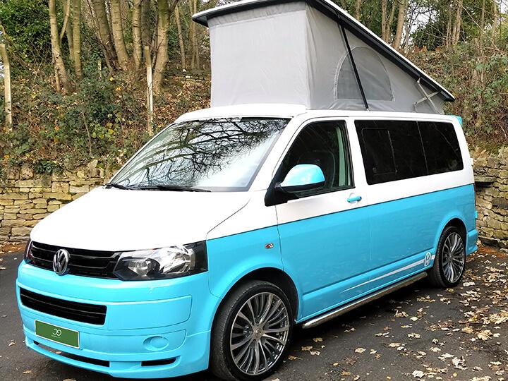 two tone campervan